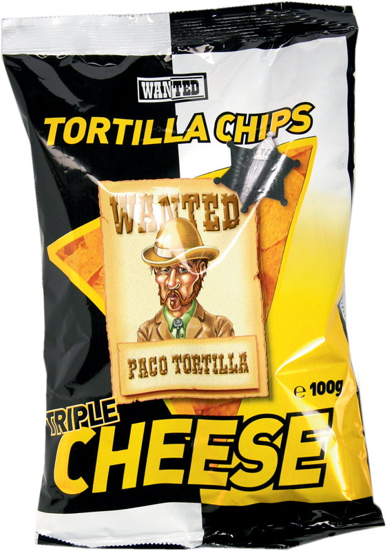 2038 - Chips tortillas saveur fromage Wanted
